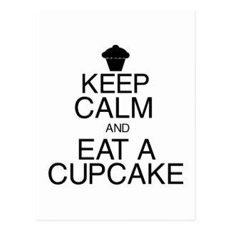 Keep Calm and Eat a Cupcake Postcards