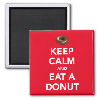 Keep calm and eat a donut magnet (customizable)