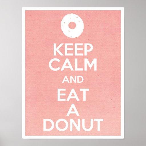 Keep Calm and Eat a Doughnut Poster