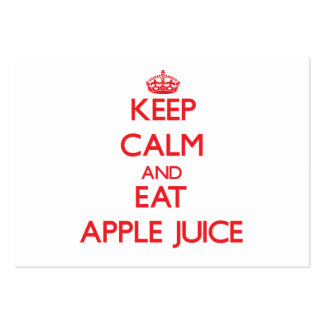Keep calm and eat Apple Juice Business Cards
