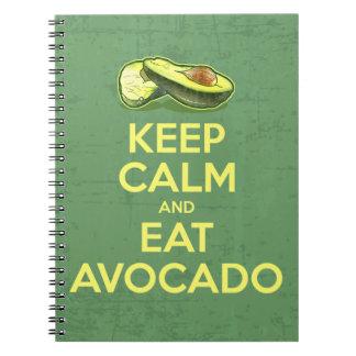 Keep Calm And Eat Avocado Notebook