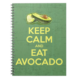 Keep Calm And Eat Avocado Spiral Notebook