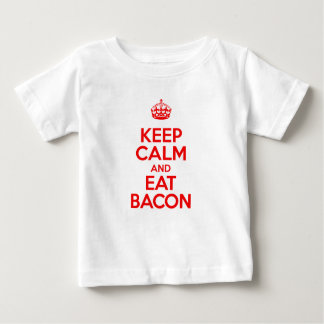 Keep Calm and Eat Bacon Baby T-Shirt