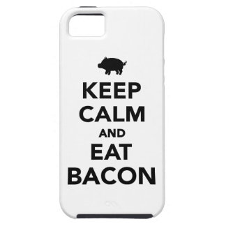 Keep calm and eat bacon iPhone 5 covers