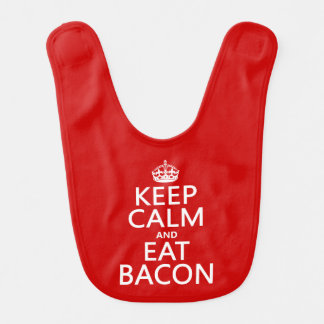 Keep Calm and Eat Bacon funny Baby Bibs