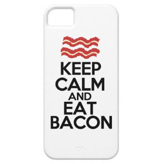 keep calm and eat bacon funny case