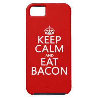 Keep Calm and Eat Bacon iPhone 5 Cases