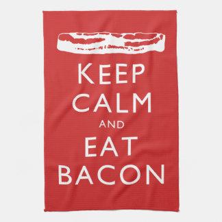 Keep Calm and Eat Bacon Tea Towel