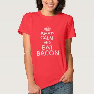 Keep Calm And Eat Bacon Tees
