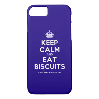 Keep Calm and Eat Biscuits iPhone 7 Case