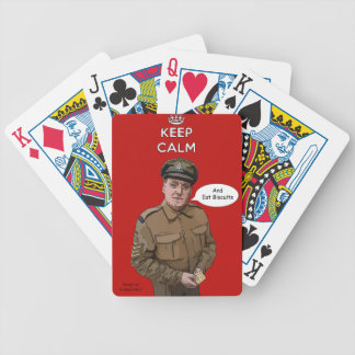Keep Calm And Eat Biscuits WW2 Playing Cards