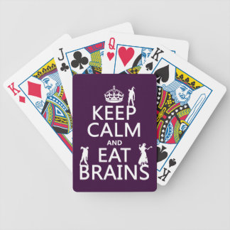 Keep Calm and Eat Brains (zombies) (any color) Bicycle Playing Cards