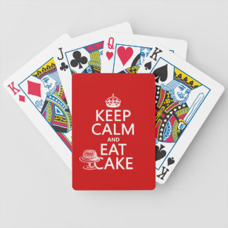Keep Calm and Eat Cake Bicycle Playing Cards