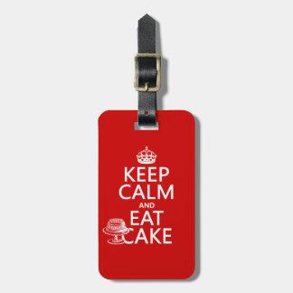 Keep Calm and Eat Cake Luggage Tag