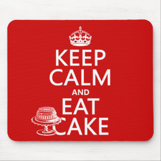 Keep Calm and Eat Cake Mouse Mat