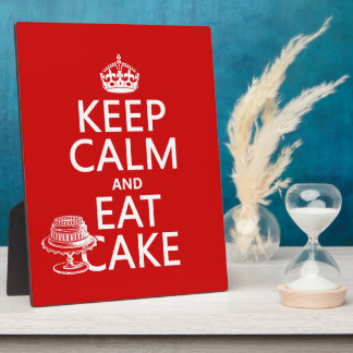 Keep Calm and Eat Cake Plaque