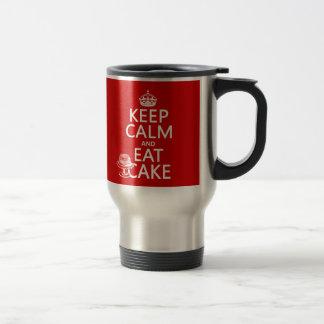 Keep Calm and Eat Cake Travel Mug