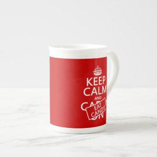 Keep Calm and Eat Candy (customize colors) Bone China Mug