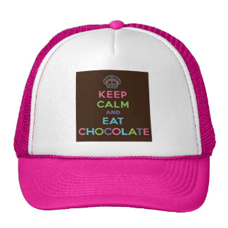 Keep Calm and Eat Chocolate Cap