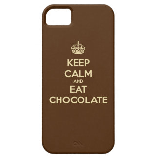 Keep Calm and Eat Chocolate iPhone 5 Case