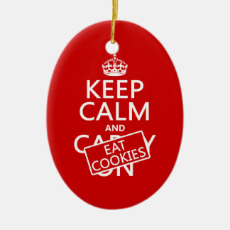 Keep Calm and Eat Cookies Christmas Ornament