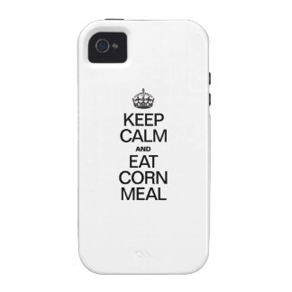 KEEP CALM AND EAT CORN MEAL iPhone 4 CASE