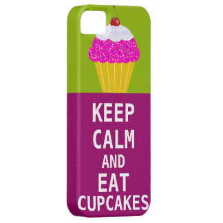 KEEP CALM AND Eat Cupcakes-change plum any color iPhone 5 Case