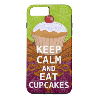 KEEP CALM AND Eat Cupcakes-change plum any color iPhone 7 Plus Case