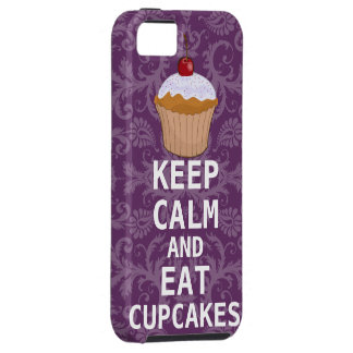 KEEP CALM AND Eat Cupcakes change Purple any color iPhone 5 Covers