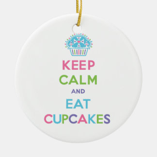 Keep Calm and Eat Cupcakes Christmas Ornament