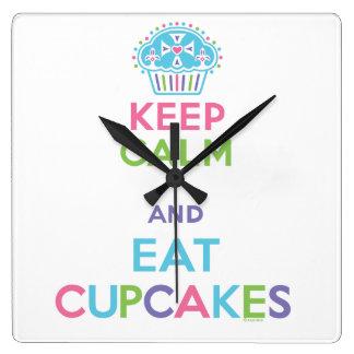 Keep Calm and Eat Cupcakes clock