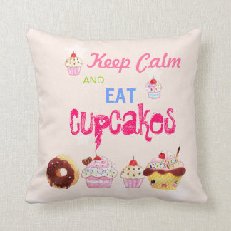 Keep Calm and eat Cupcakes Cushion