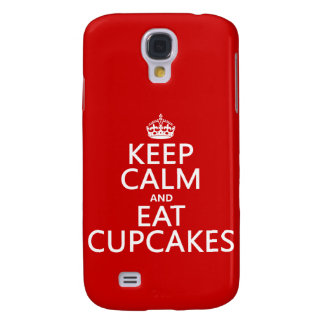 Keep Calm and Eat Cupcakes Galaxy S4 Case