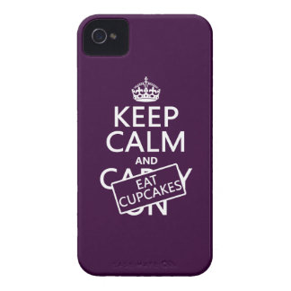 Keep Calm and Eat Cupcakes iPhone 4 Case-Mate Case