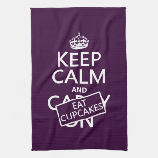 Keep Calm and Eat Cupcakes Tea Towel