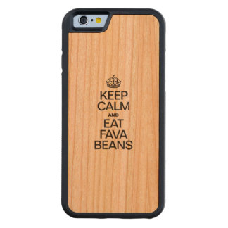 KEEP CALM AND EAT FAVA BEANS CARVED® CHERRY iPhone 6 BUMPER CASE
