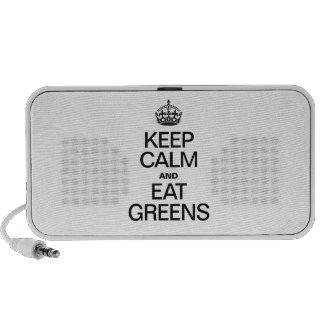 KEEP CALM AND EAT GREENS MP3 SPEAKERS