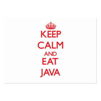 Keep calm and eat Java Business Card Templates