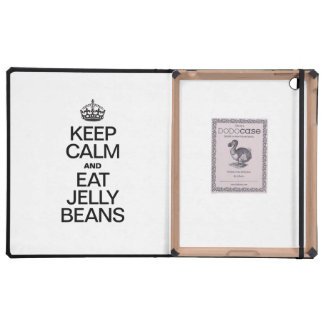 KEEP CALM AND EAT JELLY BEANS CASE FOR iPad