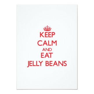 Keep calm and eat Jelly Beans Card