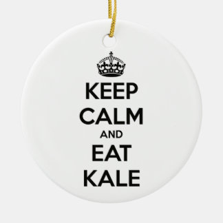 KEEP CALM AND EAT KALE CHRISTMAS ORNAMENT