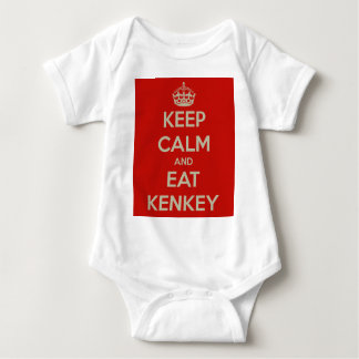 keep-calm-and-eat-kenkey baby bodysuit
