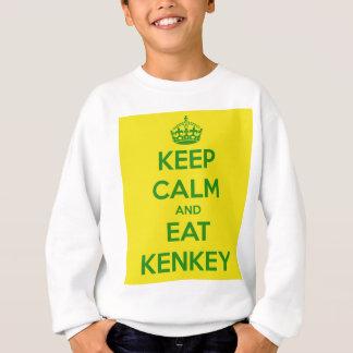 keep calm and eat kenkey sweatshirt