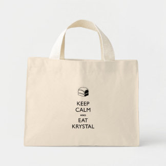 Keep Calm and Eat Krystal Mini Tote Bag