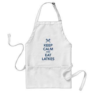 Keep Calm and Eat Latkes Standard Apron