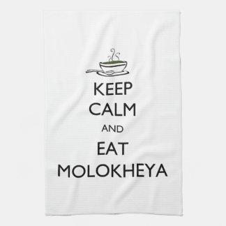Keep Calm and Eat Molokheya Tea Towel