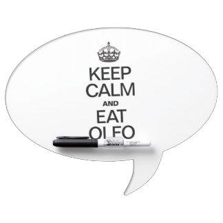 KEEP CALM AND EAT OLEO DRY ERASE WHITEBOARD