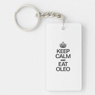 KEEP CALM AND EAT OLEO ACRYLIC KEY CHAINS
