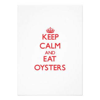 Keep calm and eat Oysters Personalized Invitations