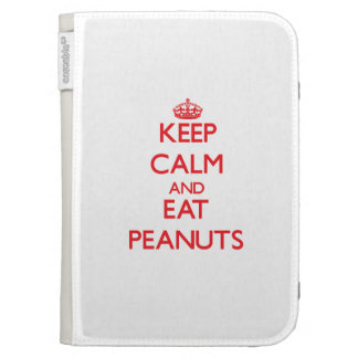 Keep calm and eat Peanuts Kindle 3G Cases